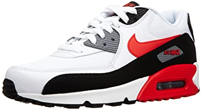half off 275b3 1aa6c Nike Air Max 90 Essential White Red Mens Trainers Size 9 UK ...