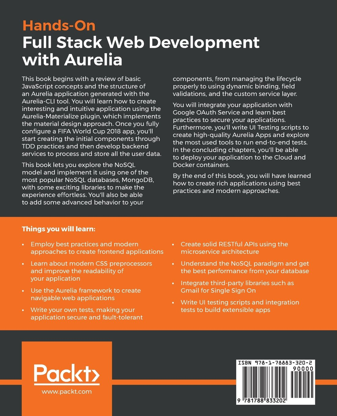 Hands-On Full Stack Web Development with Aurelia: Develop