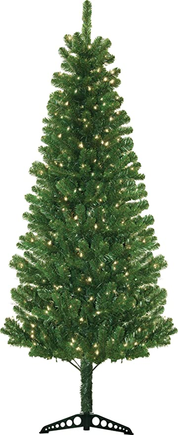 Morrison 7' Green Artificial Christmas Tree with 300 Clear Lights - Morrison 7' Green Artificial Christmas Tree With 300 Clear Lights