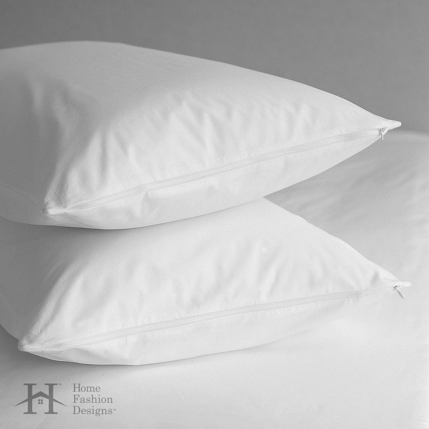 Home Fashion Designs 4-Pack Premium Allergy Protection Pillow Protectors. Hypoallergenic Dust Mite & Bed Bug Resistant Anti-Microbial 400 Thread Count 100% Cotton Zippered Pillow Covers. (Standard) by Home Fashion Designs (Image #7)