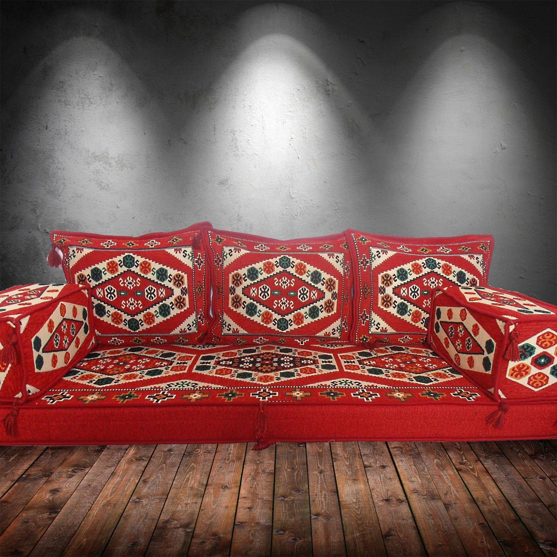 Sofá cama para suelo de estilo étnico tribal, árabe, de ...