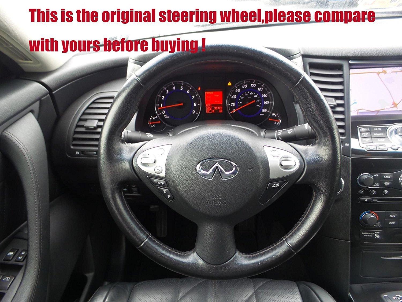 Genuine Leather Steering Wheel Cover for 2005-2011 Toyota Tacoma //2003-2009 4Runner //2004-2010 Sienna //2003-2007 Sequoia //2004-2007 Highlander //2005 2006 Camry //1995 1997-2007 Land Cruiser Loncky 4350394086