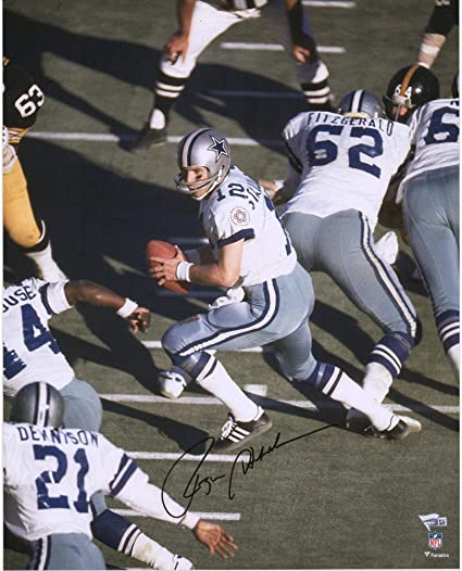 e73e09fb807 Image Unavailable. Image not available for. Color: Roger Staubach Dallas  Cowboys Autographed 16'' x 20'' ...