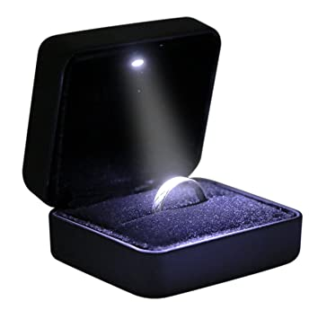 Amazon.com: Omeet - Caja de anillos LED: Home & Kitchen