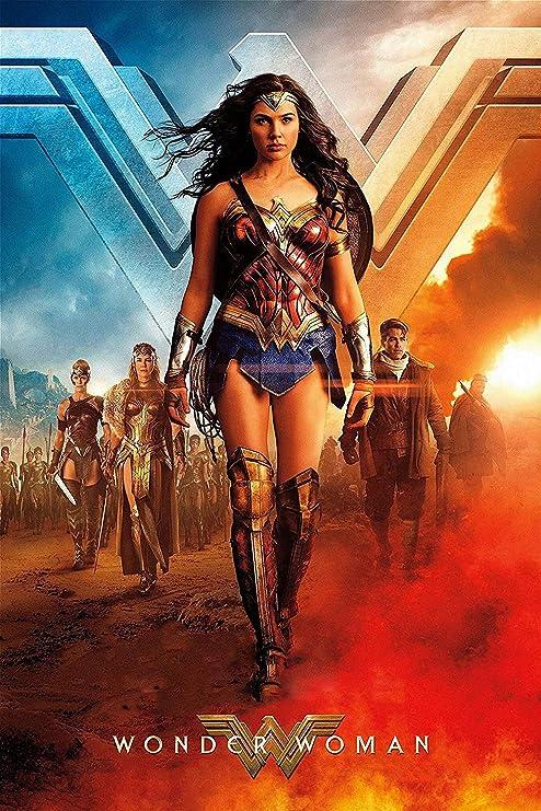 - Gal Gadot Chris Pine v5 Wonder Woman Movie Poster 24x36