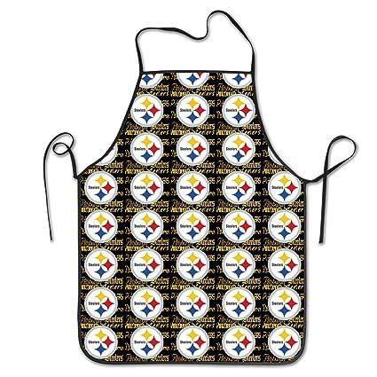 Amazon.com  Marrytiny Kitchen Chef Apron Pittsburgh Steelers ... 48b5c4d076