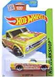 Hot Wheels Hw Workshop 208/250 67 Chevy C10 Yellow With Orange Flames