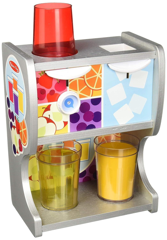 Melissa & Doug 19300en bois Boisson Tasses, inserts de jus, glaçons (10pcs) thirst Quencher Distributeur, Multicolore glaçons (10pcs) thirst Quencher Distributeur