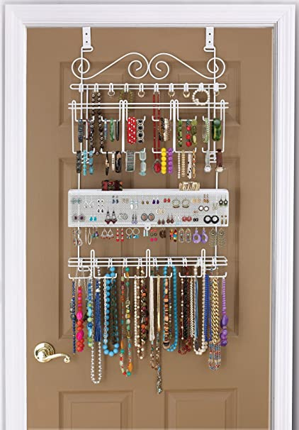 Merveilleux Longstem Organizers Over Door/Wall Jewelry Organizer, Rated Best Unique  Patented Product,