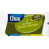Chux Chux Biodegradable Scourer Sponge 2pk, 0.044999999999999998 kilograms, Pack of 2, Multi-colored