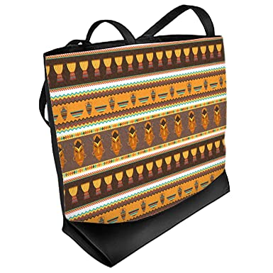 ac618190c9 Image Unavailable. Image not available for. Color  African Masks Beach Tote  Bag ...