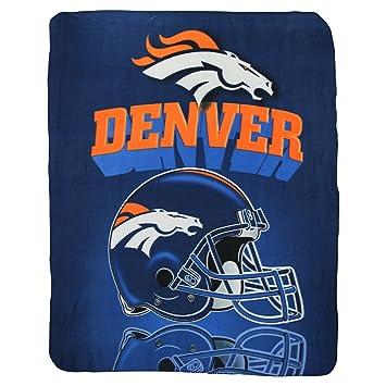 denver broncos lightweight fleece blanket reflecting helmet - Denver Bronco Colors