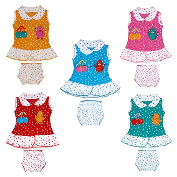 a830e1b66 Tirupur Fashion Biz New Born Baby Girls Dresses New Collection 5 Tops and  Matching Shorts (