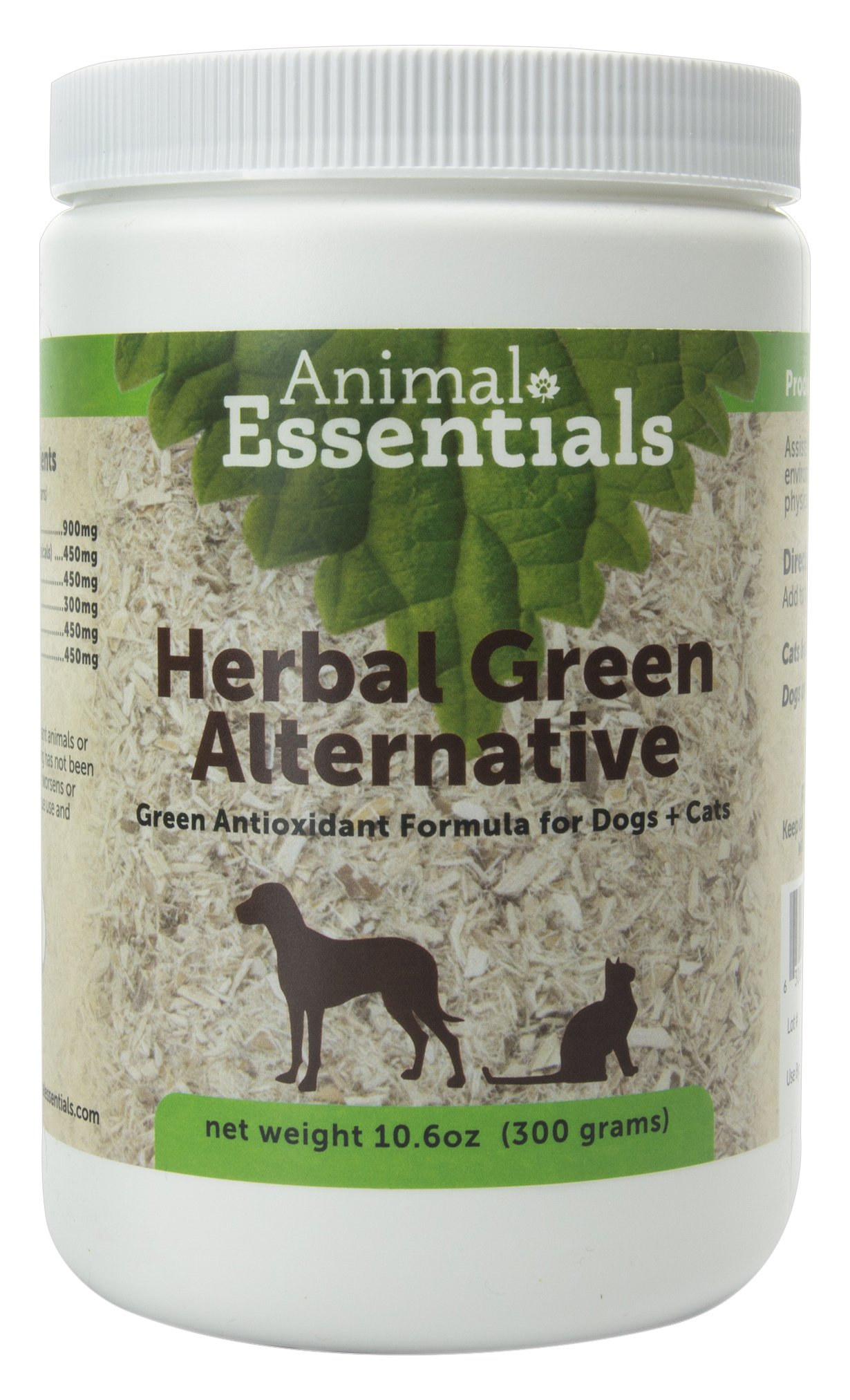 Animal Essentials Herbal Green Alternative Dog and Cat Supplement 10.6 Ounce Jar