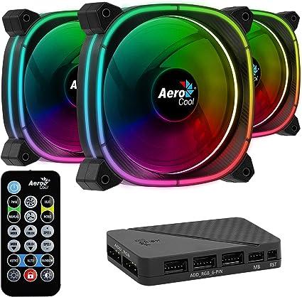 Aerocool ASTRO, ventilador PC 12 cm, 18 LED, control remoto RGB ...