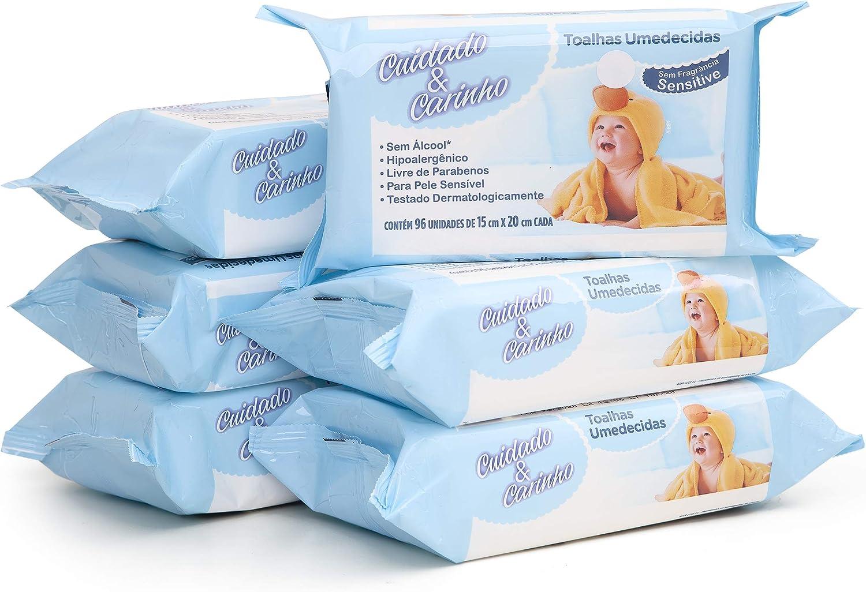 Toalhas Umedecidas Sensitive, 576 unidades, Cuidado & Carinho