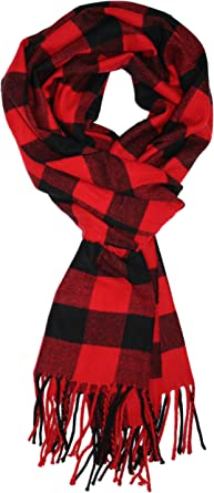 Ted and Jack Jacks Classic Cashmere Feel Color Plaid Pattern Scarf