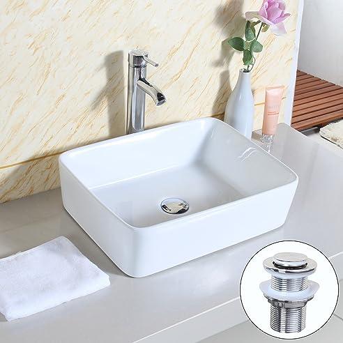 Gaga Schüssel Viereckig Top Keramik-Waschbecken Porzellan Spüle