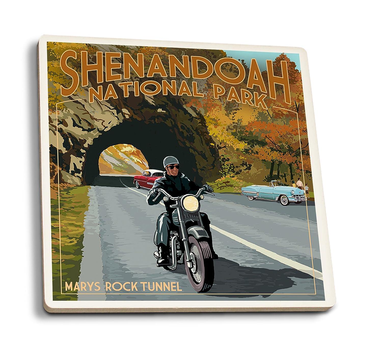 2019年秋冬新作 Shenandoah国立公園、バージニア州 – Set Marys RockトンネルMotorcycle Coaster 4 Set Coaster Set LANT-42276-CT B01N3M10QF 4 Coaster Set, e-cleマート:32d7557c --- rcavalcantiadvogados.com.br