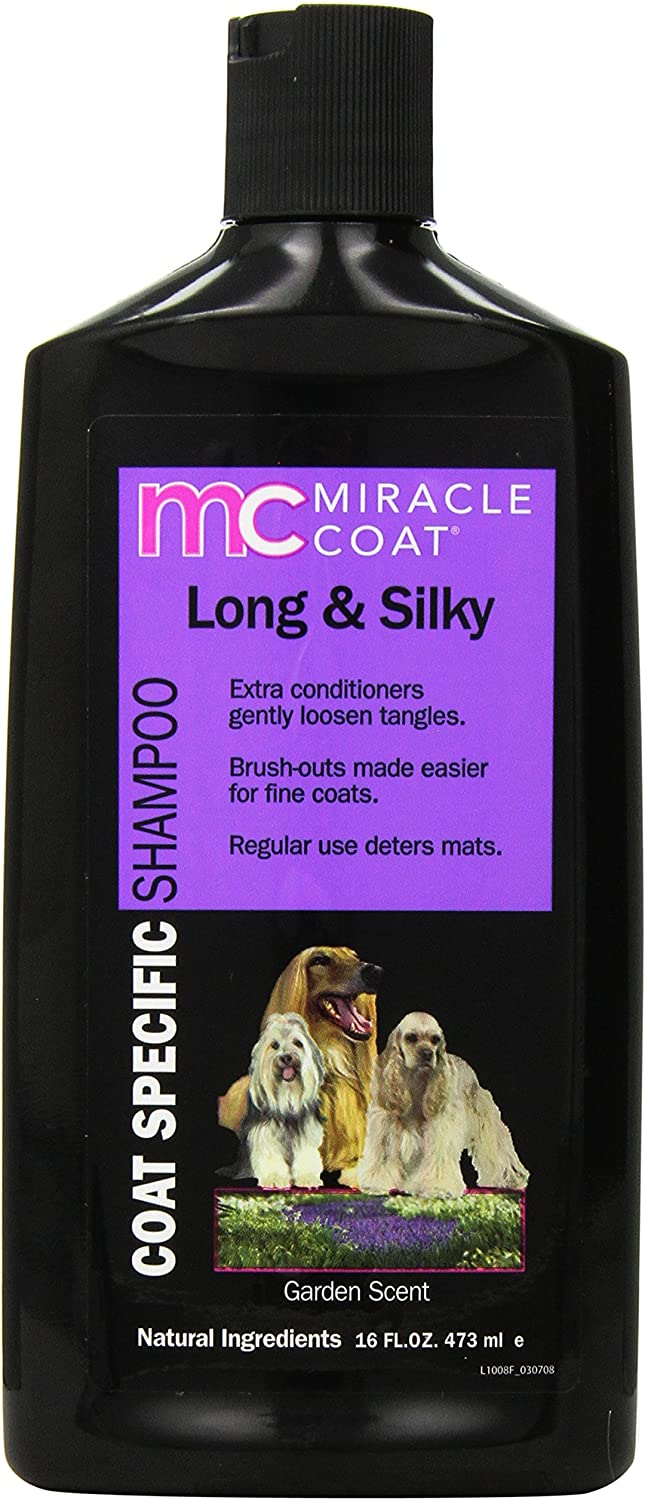 Miracle Coat Dog Shampoo, Coat Specific for Long and Silky Coats, 16-Ounce Bottle