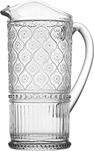 Claro by Godinger Beverage Pitcher Water Jug, Juice and Iced Tea Beverage Carafe