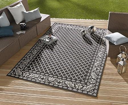 Alfombra/moderna alfombra/salón – Alfombra exterior – para balcón o terraza – para en Y Outdor Adecuado – La Atención a su jardín muebles – Royal Negro – Aprox. 160 x 230 cm: Amazon.es: Hogar
