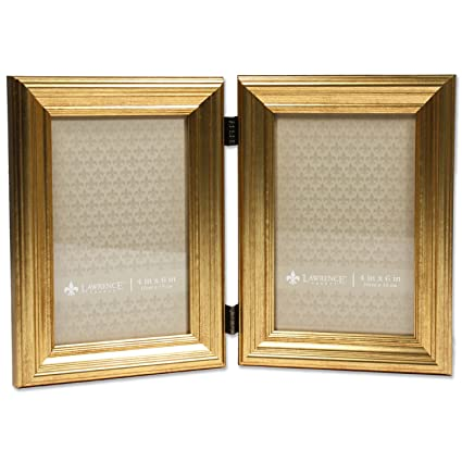 Amazon.com - 4x6 Hinged double Sutter Burnished Gold Picture Frame -