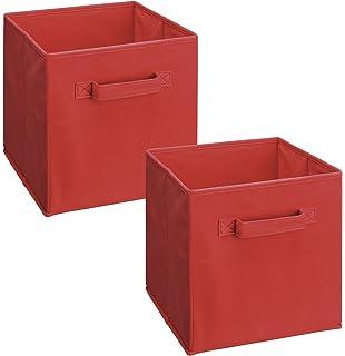 Superb ClosetMaid 18656 Cubeicals Fabric Drawer, Red, 2 Pack