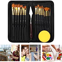 Paint Brushes for Acrylic Painting,Eocean 17 Pcs Acrylic Paint Brush Set for Kids & Adults,Professional Watercolor…