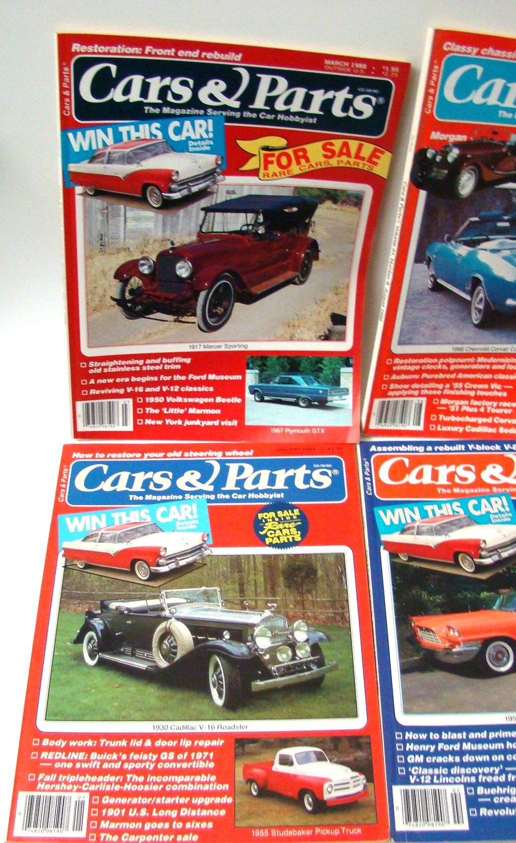 Lot of 8 Cars & Parts Magazines 1988 Individual Issues Classic Cars ...