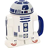 Star Wars Mug - R2-D2 3D Ceramic Coffee Mug with Removable Lid - 8 oz