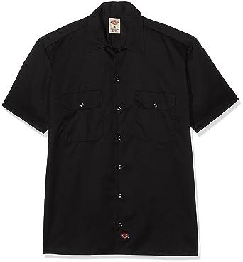 Dickies Men's Big-Tall Short-Sleeve Work Shirt, Black, 4X at ...