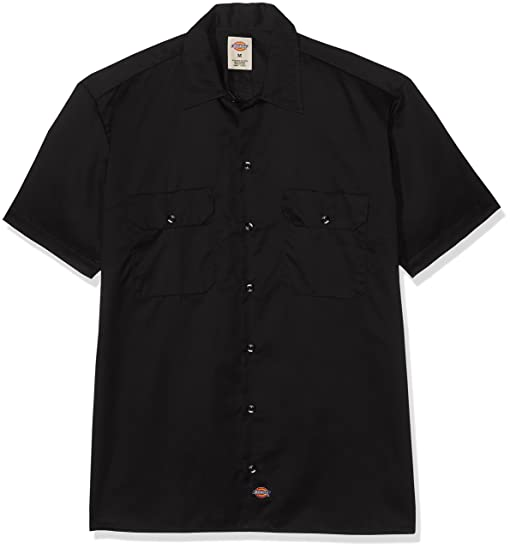 Amazon.com: Dickies Men's Big-Tall Short-Sleeve Work Shirt, Black ...