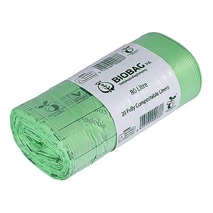 20 bolsas de basura ecológicas BioBag, con capacidad de 80 ...