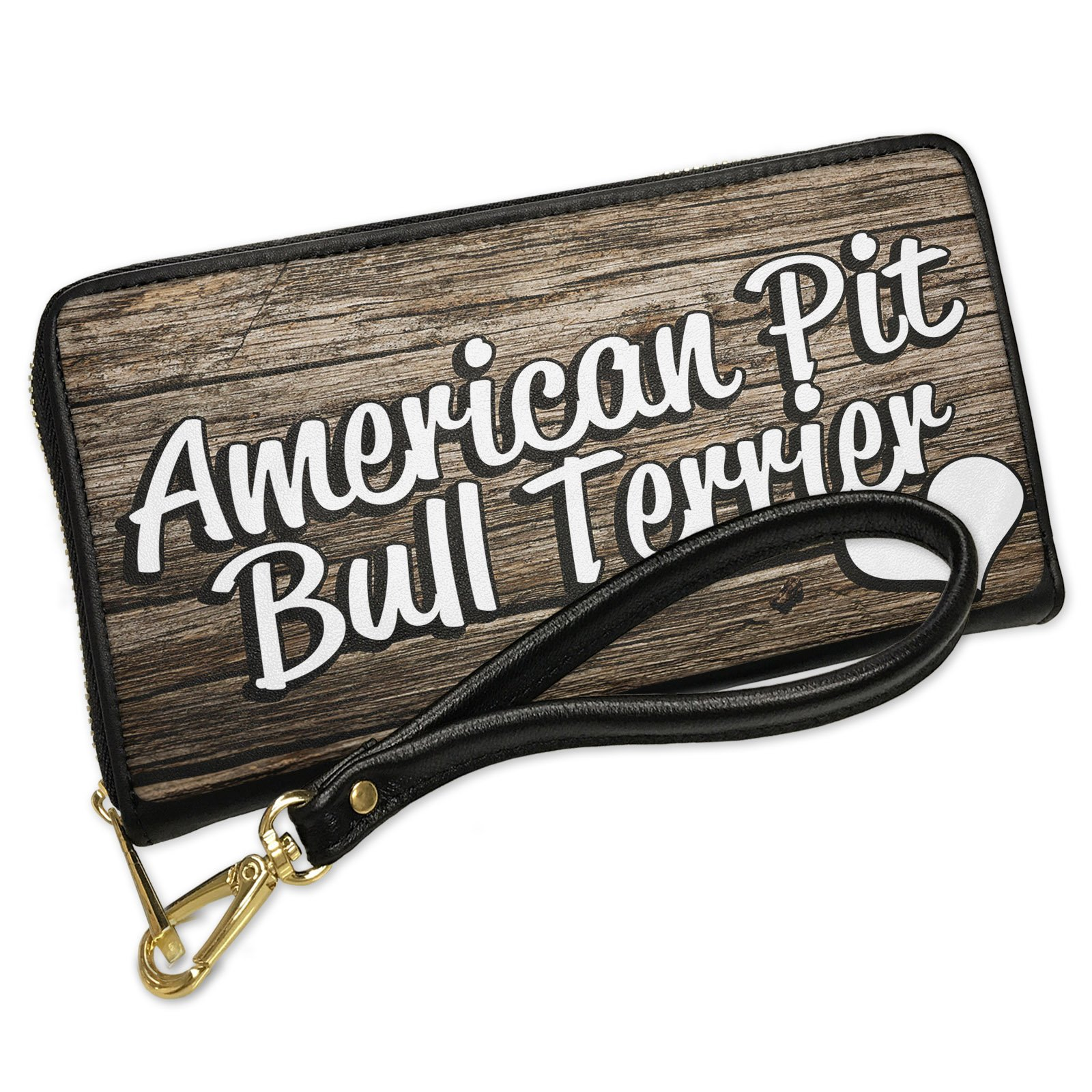 Wallet Clutch American Pit Bull Terrier, Dog Breed United States with Removable Wristlet Strap Neonblond