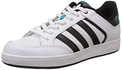adidas Originals Men's Varial Low White, Black and Green Leather Skateboarding Shoes ...