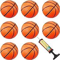 8 Pièces Mini Basket-Ball Mini Basket-Ball Cerceau Jouets de Piscine de Basket-Ball avec Pompe d'Inflation pour Sports de Plage Piscine Fournitures de Fête de Jeu