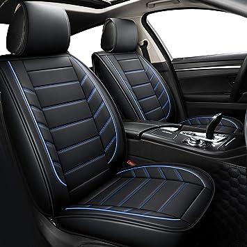 Car seat covers fit Honda Civic black//blue  leatherette full set