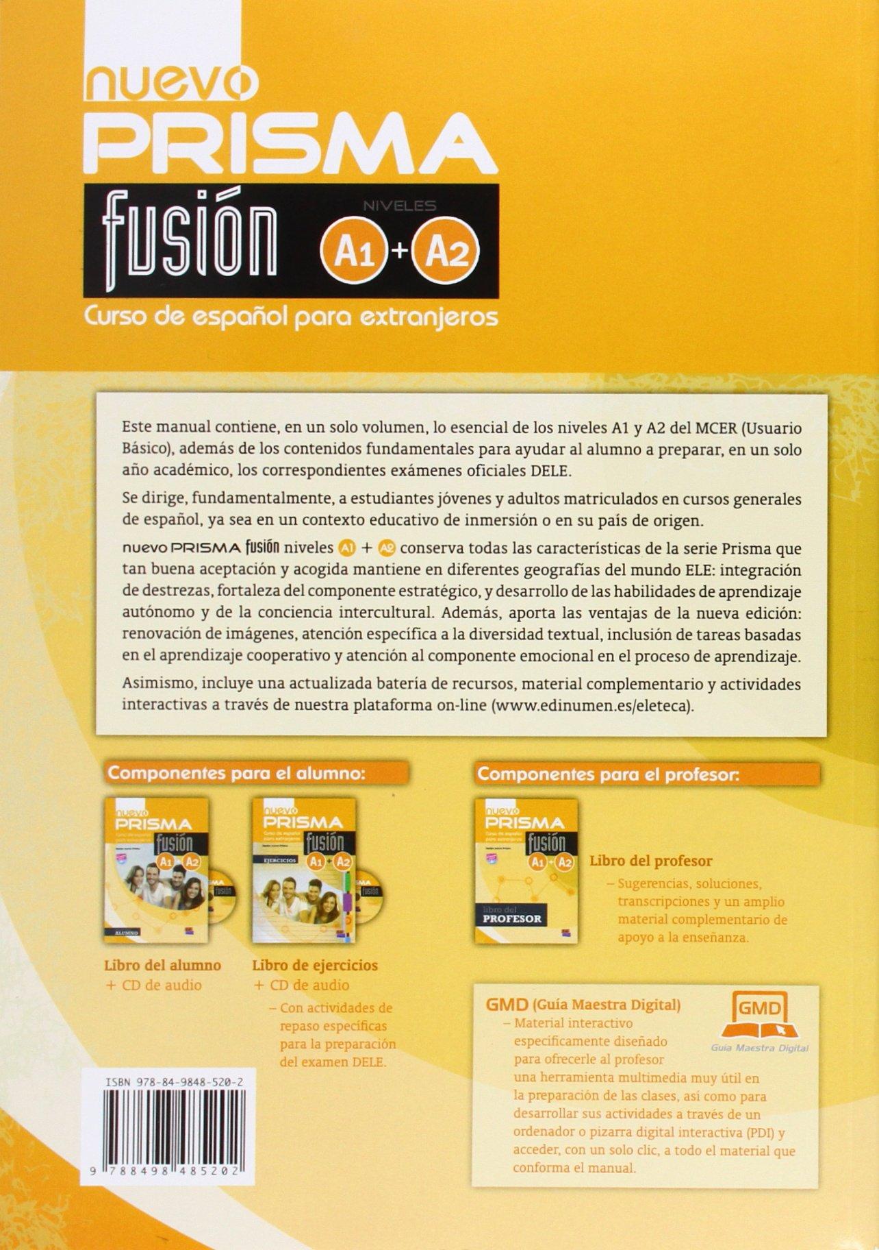 nuevo Prisma Fusión A1+A2 Alumno+ CD: Amazon.es: Ruth ...