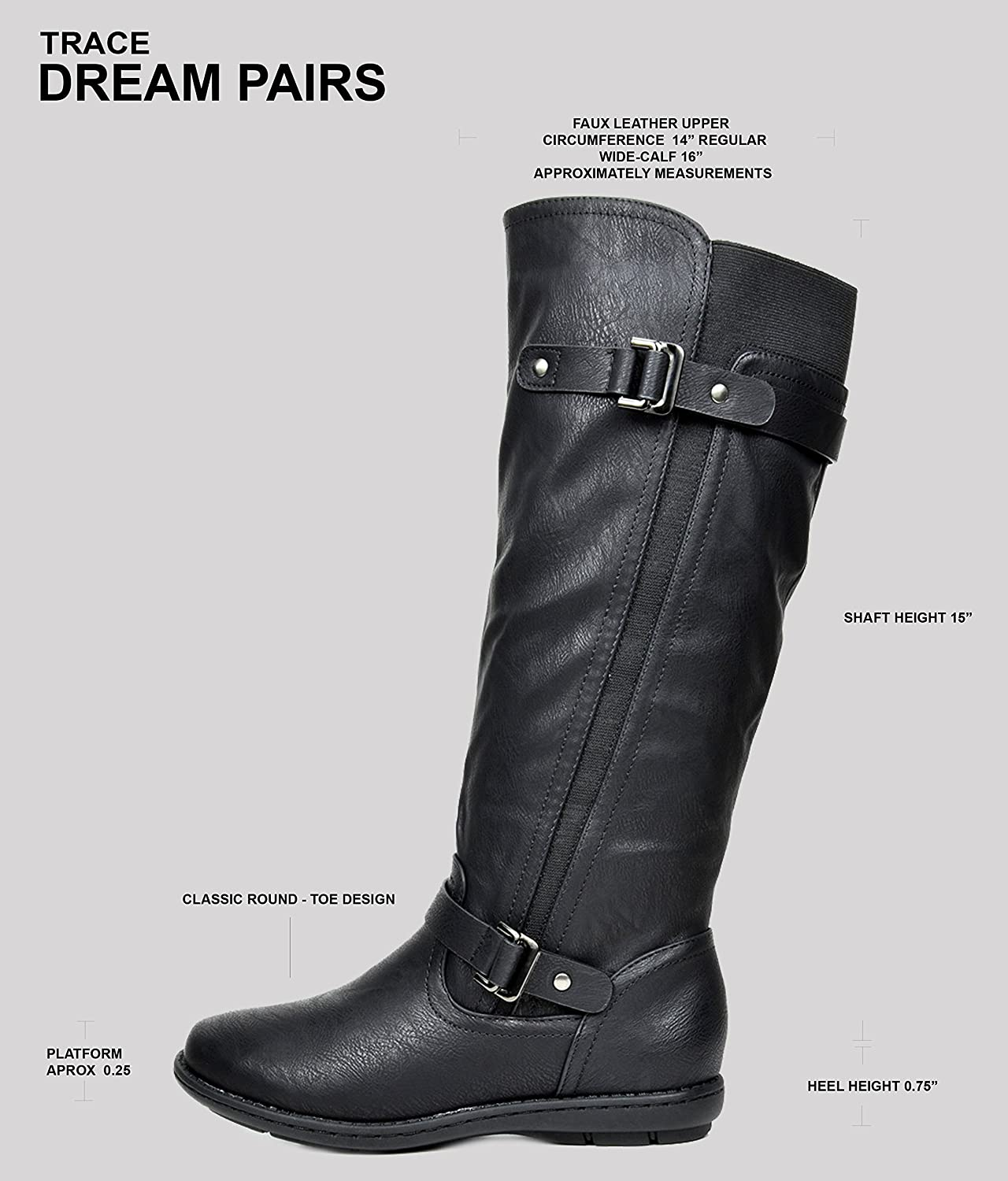 e66a1bc3054 ... DREAM PAIRS Women s Faux Fur-Lined Knee High Winter Winter Winter Boots  (Wide-