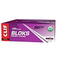 Clif Shot Bloks Electrolyte Mountain Berry Flavour Chews 60 g (Pack of 18)