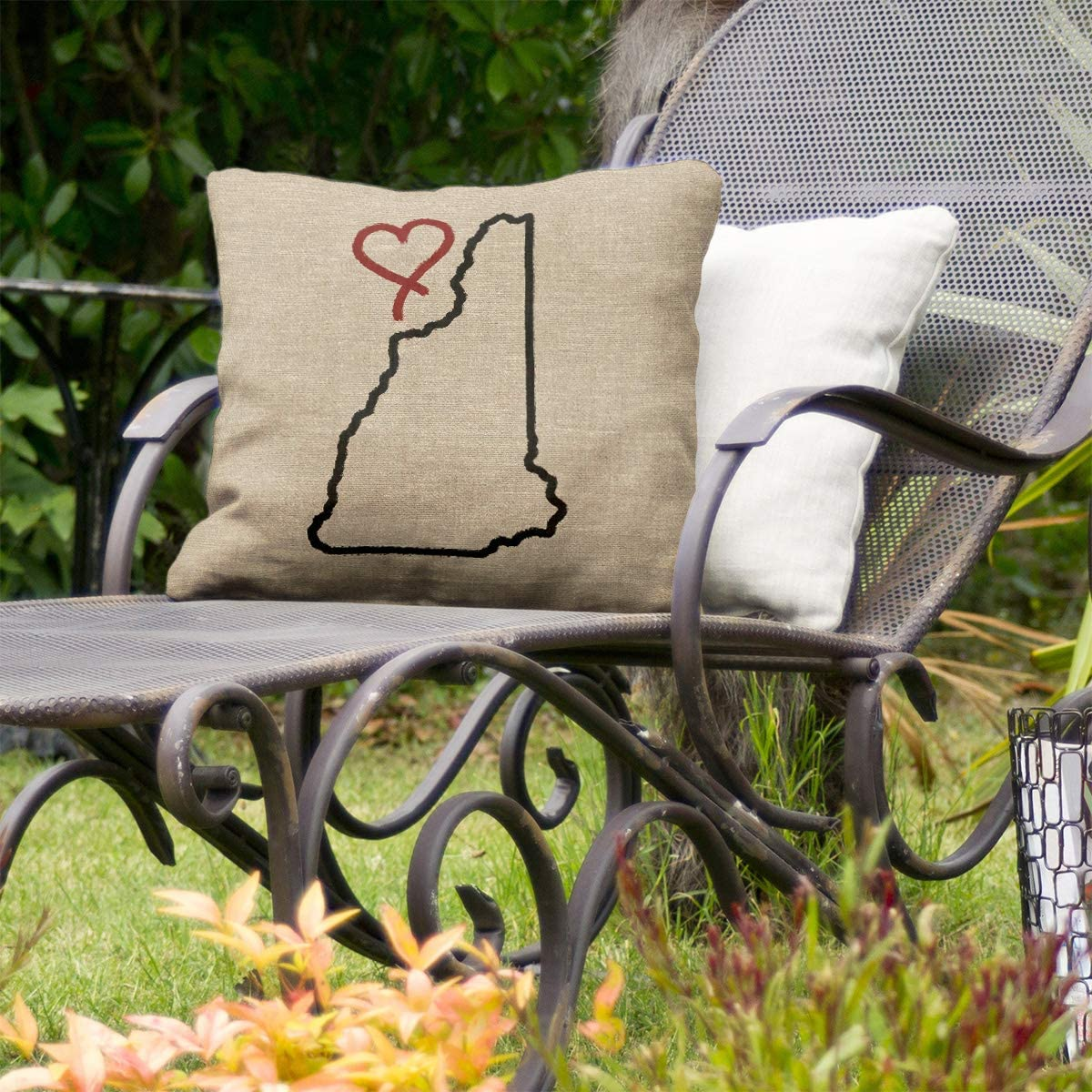 ArtVerse Katelyn Smith 18 x 18 Indoor//Outdoor UV Properties-Waterproof and Mildew Proof Ohio Love Pillow