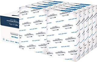 product image for Hammermill A4 Paper, 20 lb Copy Paper (210mm x 297mm) - 10 Ream (5,000 Sheets) - 92 Bright, Made in the USA