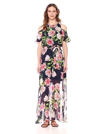 22b9fbd5be66 Eliza J Women's Cold Shoulder Maxi Dress at Amazon Women's Clothing ...