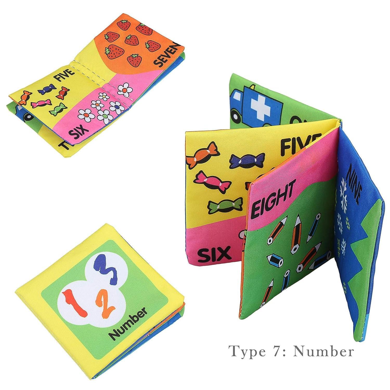 Jintes Nuovi Giocattoli educativi del Bambino del Tessuto di cognizione del Tessuto di Sviluppo di intelligenza del Bambino in anticipo di apprendimento Lettura e Scrittura