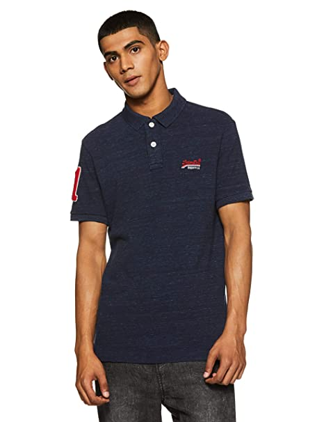Superdry Mens Classic Pique Short Sleeve Polo Shirt - Montana ...