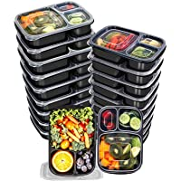 Deals on 20-Pack Utopia Kitchen 32 Oz. 3 Compartment Meal Prep Container