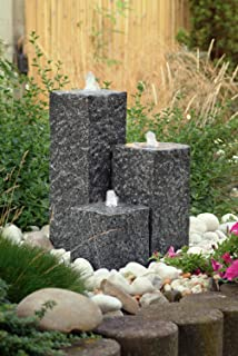 Heissner Garten/Terrassen Brunnen Granit Neptun, grau: Amazon.de: Garten