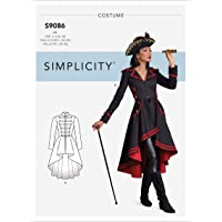 Simplicity Sewing Pattern S9086 - Misses' Steampunk Costume Coats, Size: H5 (6-8-10-12-14)