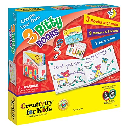 amazon com creativity for kids create your own 3 bitty books toys